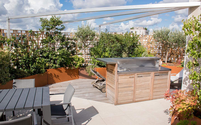 Aménagement de terrasse à Paris 15 - création terrasse paris 15