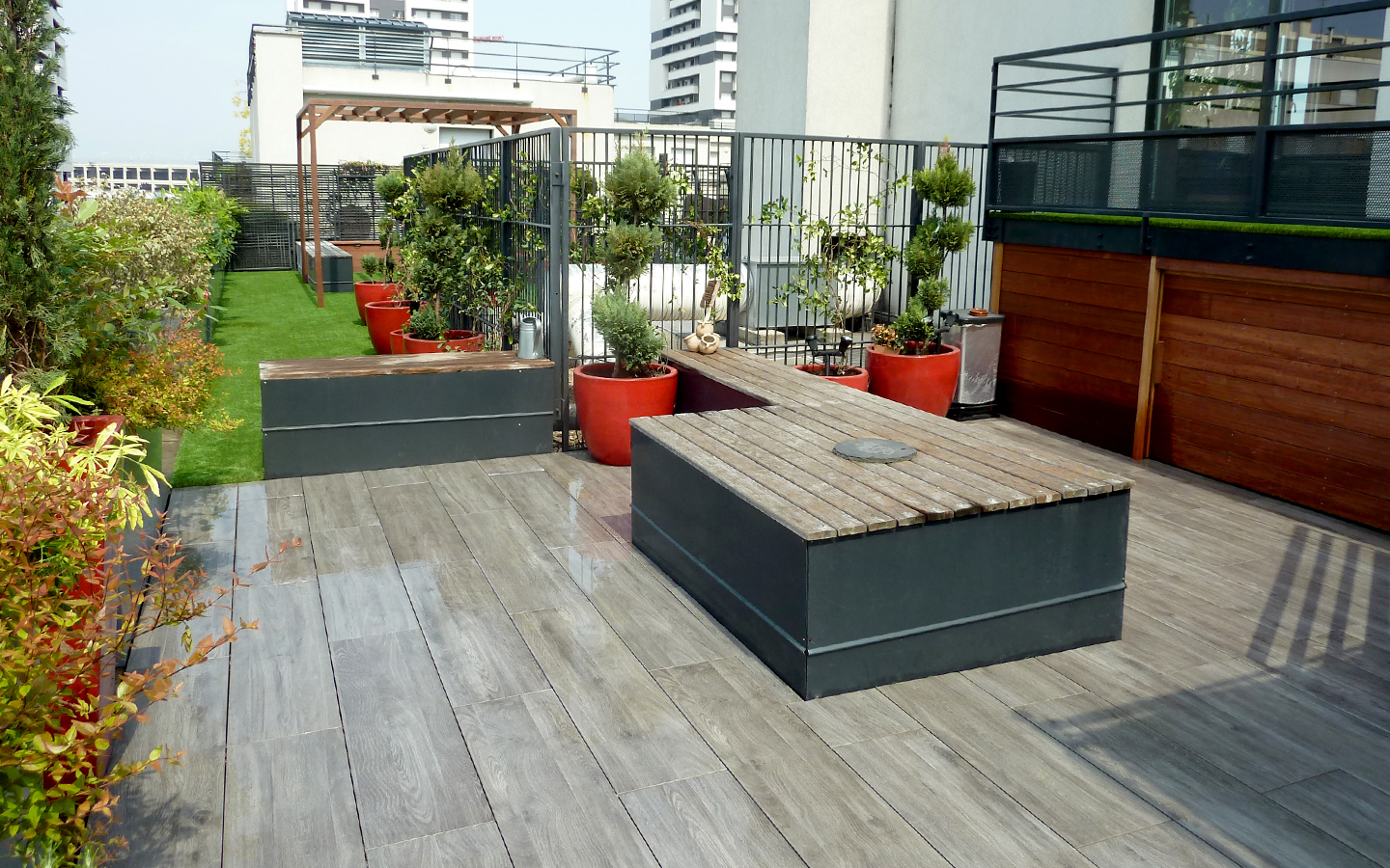 am nagement de terrasse paris 15 cr ation terrasse paris 15. Black Bedroom Furniture Sets. Home Design Ideas